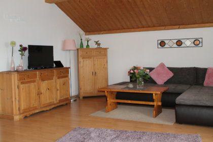 Wohnzimmer mit TV Gerät
